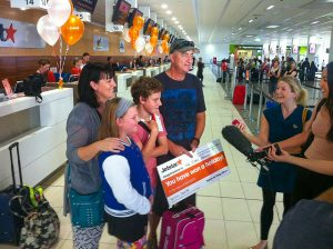 Jetstar passengers at Cairns Airport Domestic Terminal