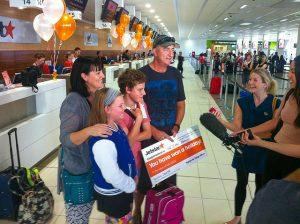Jetstar passengers at Cairns Airport Domestic Terminal